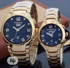 Police Gold (Day-Date) Chain Watch for Couple's | Watches for sale in Lagos State