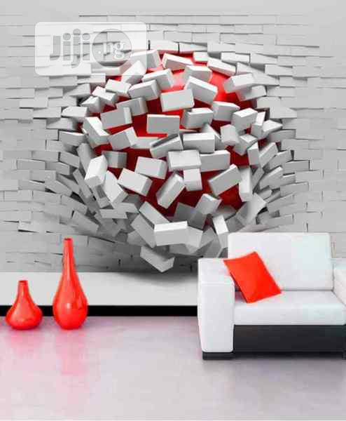 8D Broken Walls Design Wall Murals