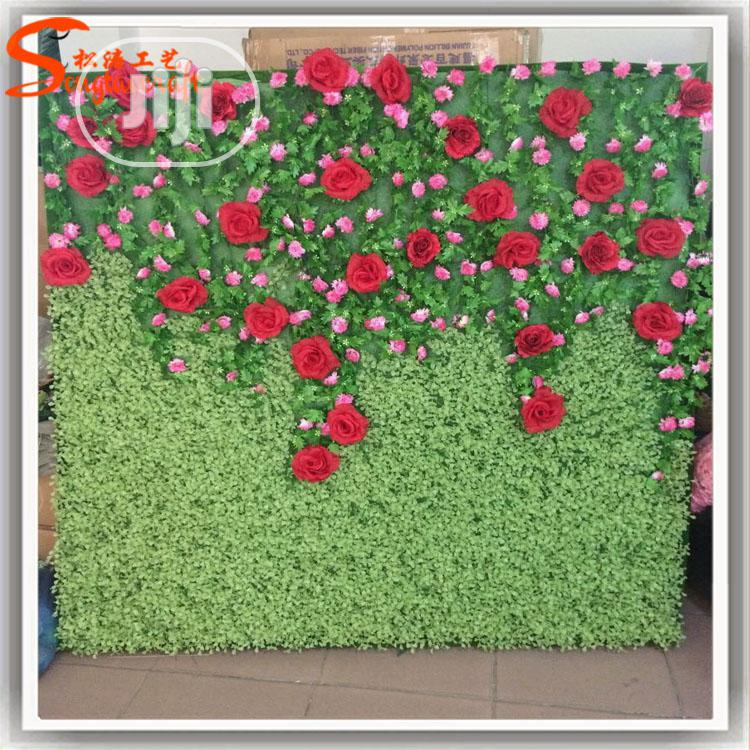 Original & Beautiful Artificial Green Wall Flower With Rose.
