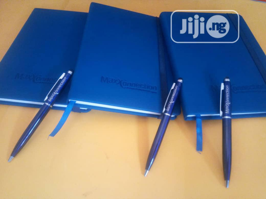 A5 Custom Made Diaries With Branded Pen
