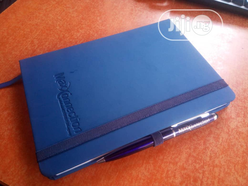 A5 Custom Made Diaries With Branded Pen | Manufacturing Services for sale in Surulere, Lagos State, Nigeria