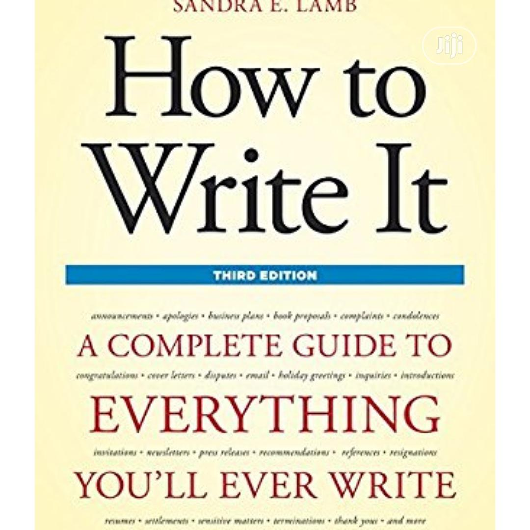 Archive: How To Write It