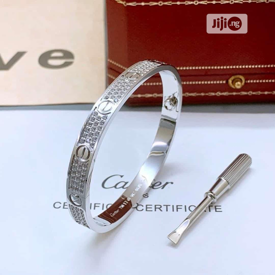 Cartier Bangle Bracelets Silver