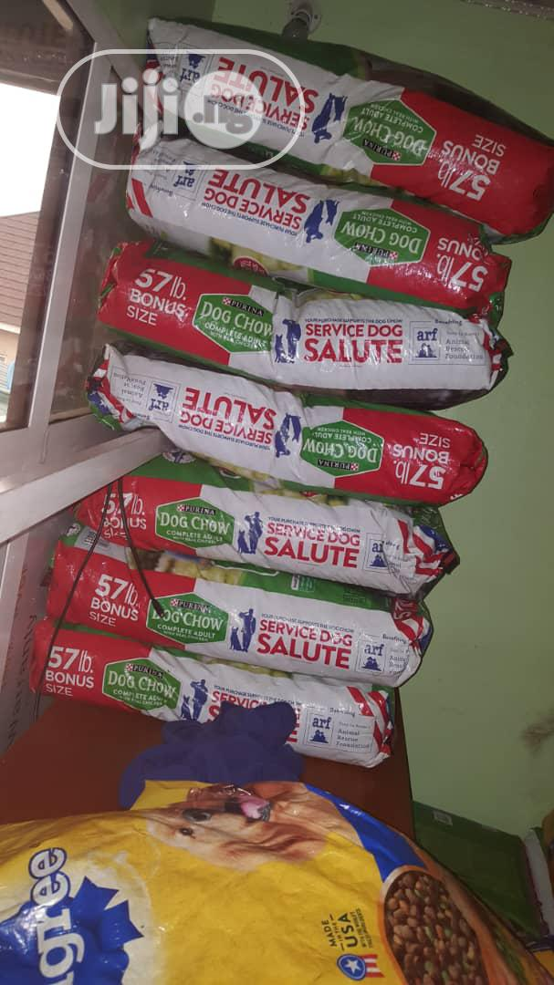 Dog Foods Available In Huge Quantities Dog Chow And Pedigree | Pet's Accessories for sale in Ikeja, Lagos State, Nigeria