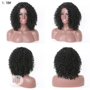 Short African Ladies Classic Human Hair Curly Wig | Hair Beauty for sale in Lagos State, Ikoyi