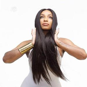 Straight Black Long Wig(High Temperature Wire) | Hair Beauty for sale in Lagos State, Alimosho