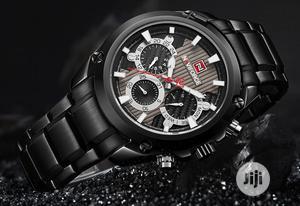 NAVIFORCE Luxury Waterproof Luminous Calendar Black Watch   Watches for sale in Lagos State, Victoria Island