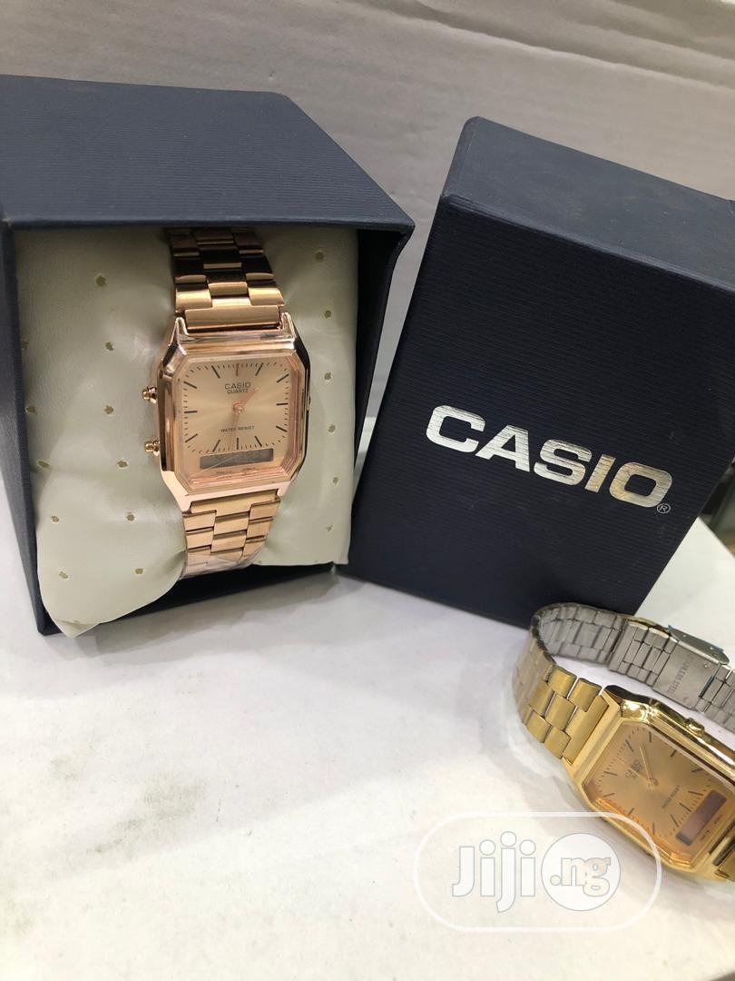 Casio Rose Gold Digital Chain Watch