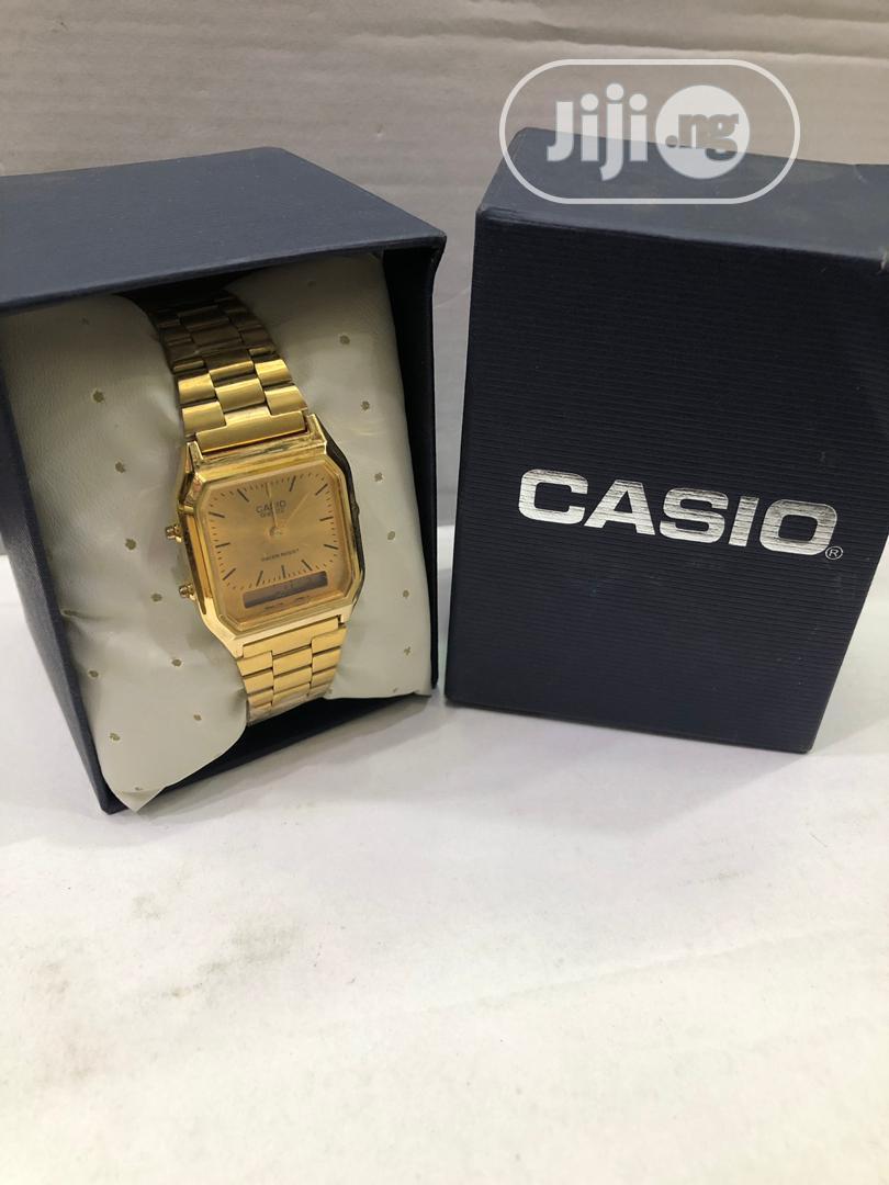 Casio Digital Gold Chain Watch