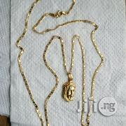 Tested 18krt Gold Blade Tiny Wit Jesus Piece Pendant | Jewelry for sale in Lagos State, Lagos Island