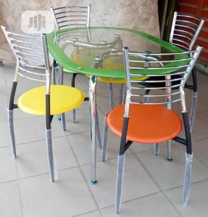 Classic Restaurant/Dinning Table With 4 Pure Stainless Chairs   Furniture for sale in Lagos State, Ojo