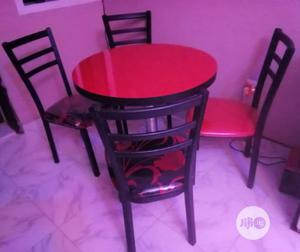 Quality Restaurant/Dinning Table With 4 Iron Black Frame Chairs   Furniture for sale in Lagos State, Ojo