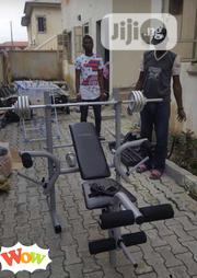 Weight Lifting Bench With 50kg | Sports Equipment for sale in Lagos State, Surulere