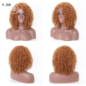 American Light Brown Short Curly Human Hair Wigs | Hair Beauty for sale in Lagos State, Ikoyi