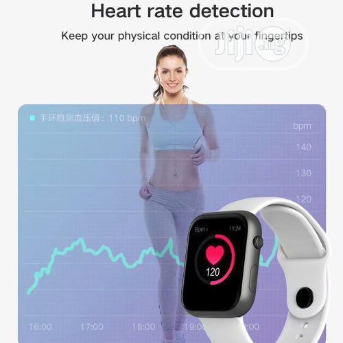 SX16 Smartwatch Heart Rate Monitor For Huawei Xiaomi White | Smart Watches & Trackers for sale in Ikeja, Lagos State, Nigeria