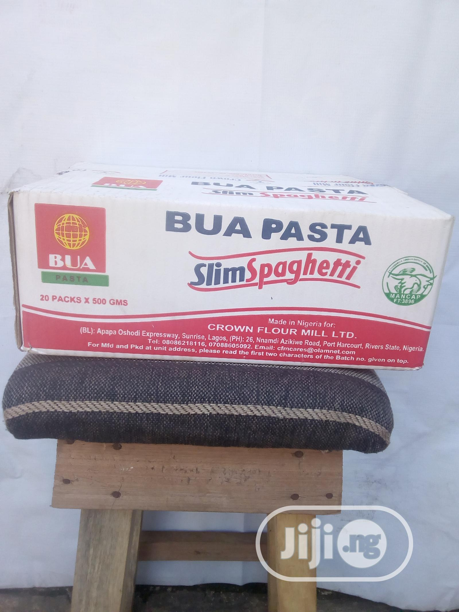 BUA Pasta 10KG Slim Spaghetti Carton | Meals & Drinks for sale in Surulere, Lagos State, Nigeria
