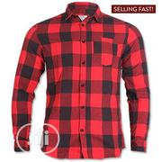 Jack and Jones Mens Jordlylan Check LS Shirt - Red | Clothing for sale in Lagos State, Magodo