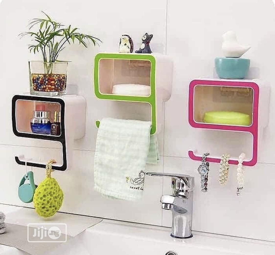 Multipurpose Wall Suction Shelves
