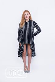 Celine Navy Blue and White Stripe Shirt Dress | Clothing for sale in Lagos State, Ikeja