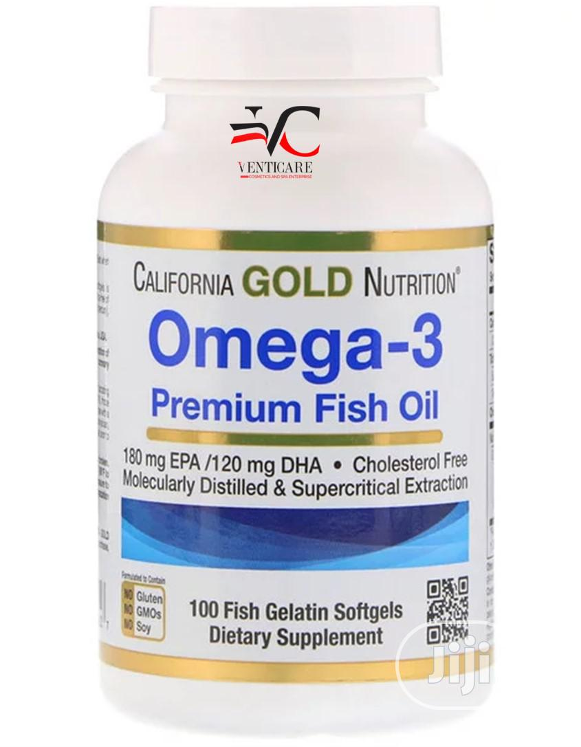 CGN Omega-3 Premium Fish Oil, 100 Fish Gelatin Softgels
