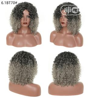 Black Short Dark Grandma Gray Wigs | Hair Beauty for sale in Lagos State, Ikoyi