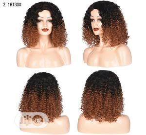 Fine Soft Light Brown Wavy Sliky Short Curly Wig | Hair Beauty for sale in Lagos State, Ikoyi