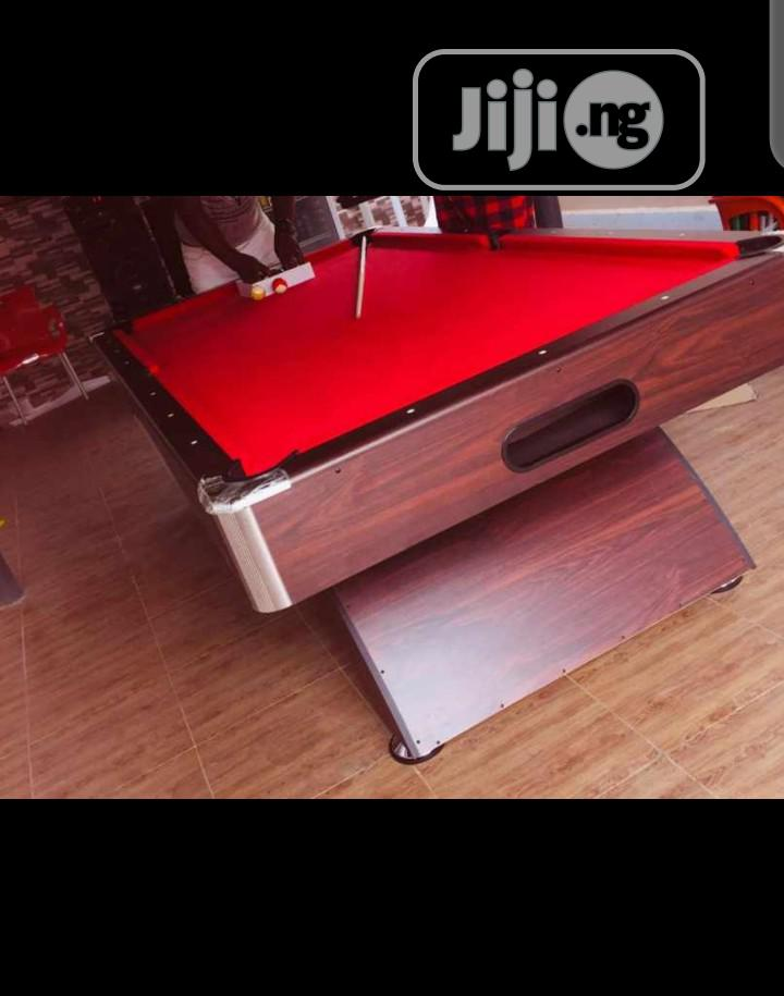 Archive: 7ft Snooker Board With Complete Accessories, Red Flet