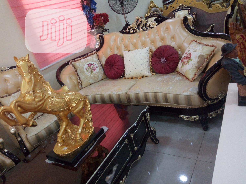 Royal Fabric and Leather Sofa