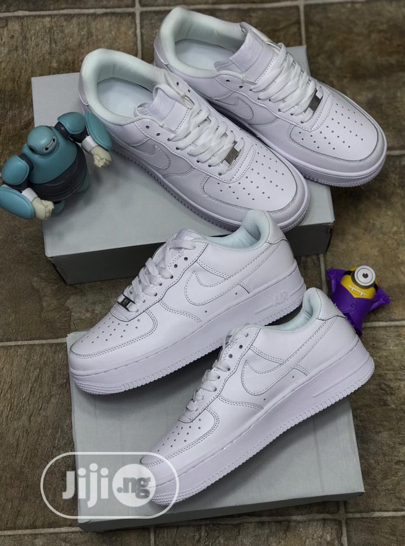 Nike Air Force 1 All White Sneakers