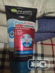 Garnier Pure Active 3in 1 Charcoal Anti Blackhead | Skin Care for sale in Lagos State, Ikeja