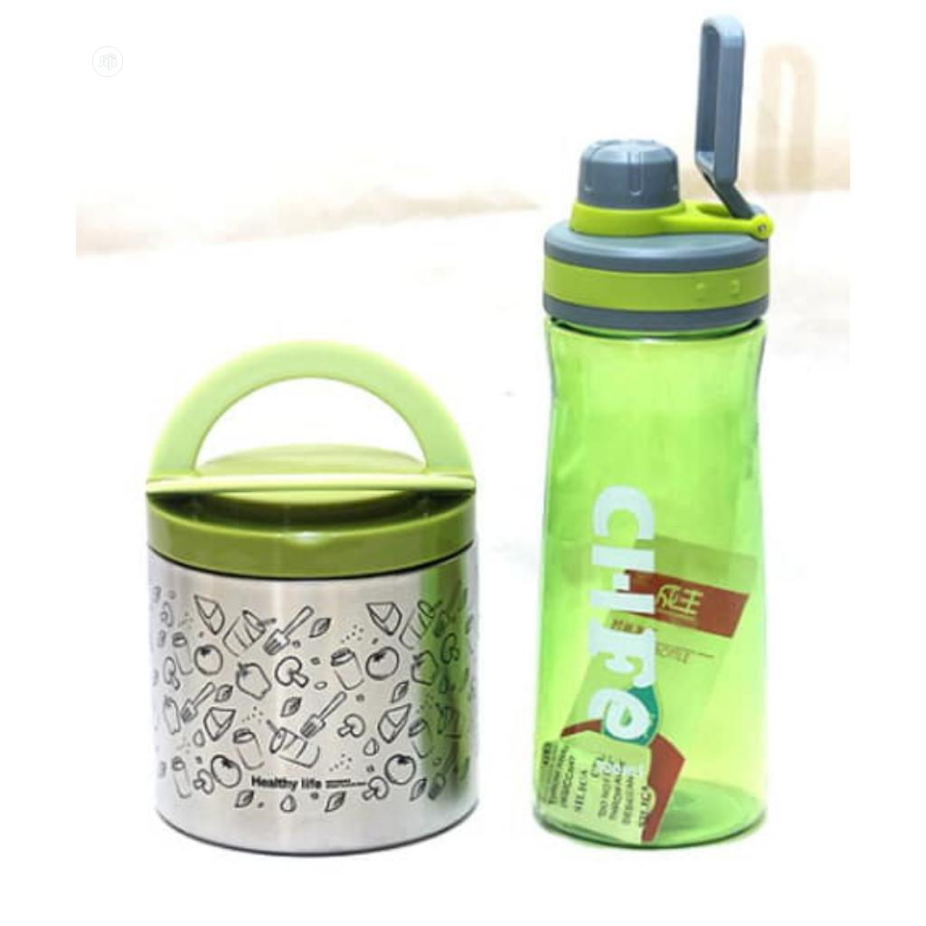 Food Flask And Water Bottle Set