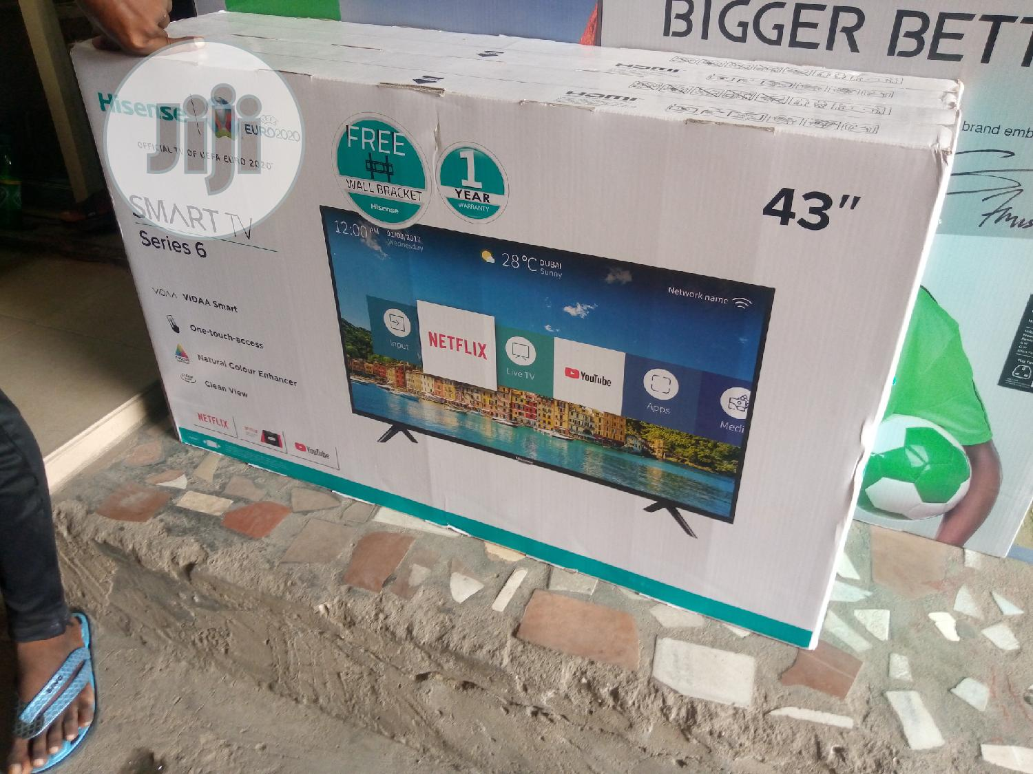 "Hisense 43""Smart TV Series6 Energy Saving Free Bracket 1year Warranty 