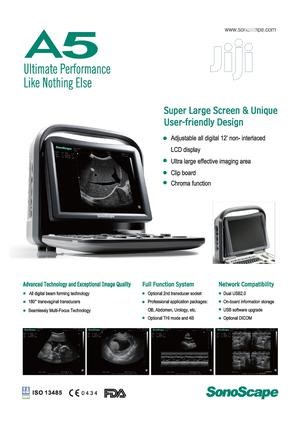 Sonoscape A5 Black/White Ultrasound Machine | Medical Supplies & Equipment for sale in Lagos State, Ikeja