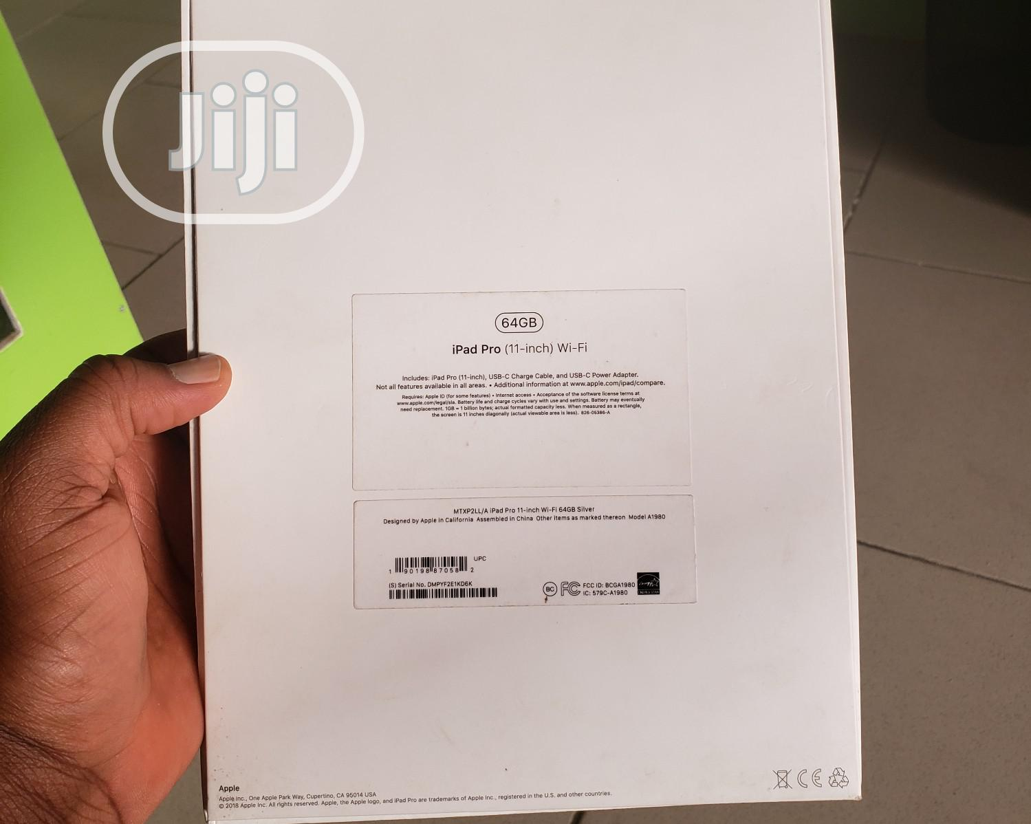 New Apple iPad Pro 11 (2018) 64 GB Silver   Tablets for sale in Wuse 2, Abuja (FCT) State, Nigeria