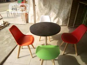 Eatry Chairs Leather Chairs With Wooden Table Top | Furniture for sale in Lagos State, Ojo