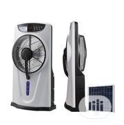 Andrakk Rechargeable Mist Fan + Remote +Solar Panel + USB Port + Wheel | Solar Energy for sale in Bayelsa State, Yenagoa
