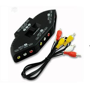 3-way Audio Video AV RCA Switch Selector Box Splitter With/3 RCA Cable   Accessories & Supplies for Electronics for sale in Lagos State, Ikeja