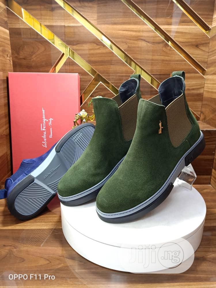 Designer Saferragamo Suede Shoe