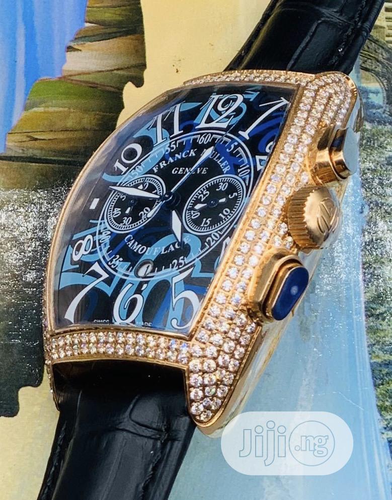 Original Leather Frank Muller Wrist Watch | Watches for sale in Lagos Island (Eko), Lagos State, Nigeria