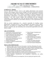 Administrative/Secretarial Services And Office Management | Clerical & Administrative CVs for sale in Abuja (FCT) State, Central Business Dis