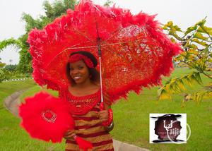 Bridal Umbrella And Fan For Sale.   Wedding Wear & Accessories for sale in Delta State, Sapele