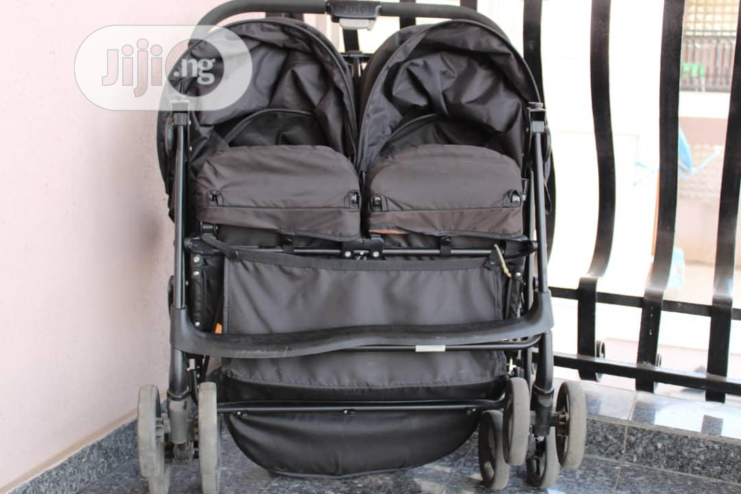 Joie Aire Twin Double Buggy From Birth to 15kg | Prams & Strollers for sale in Ikeja, Lagos State, Nigeria