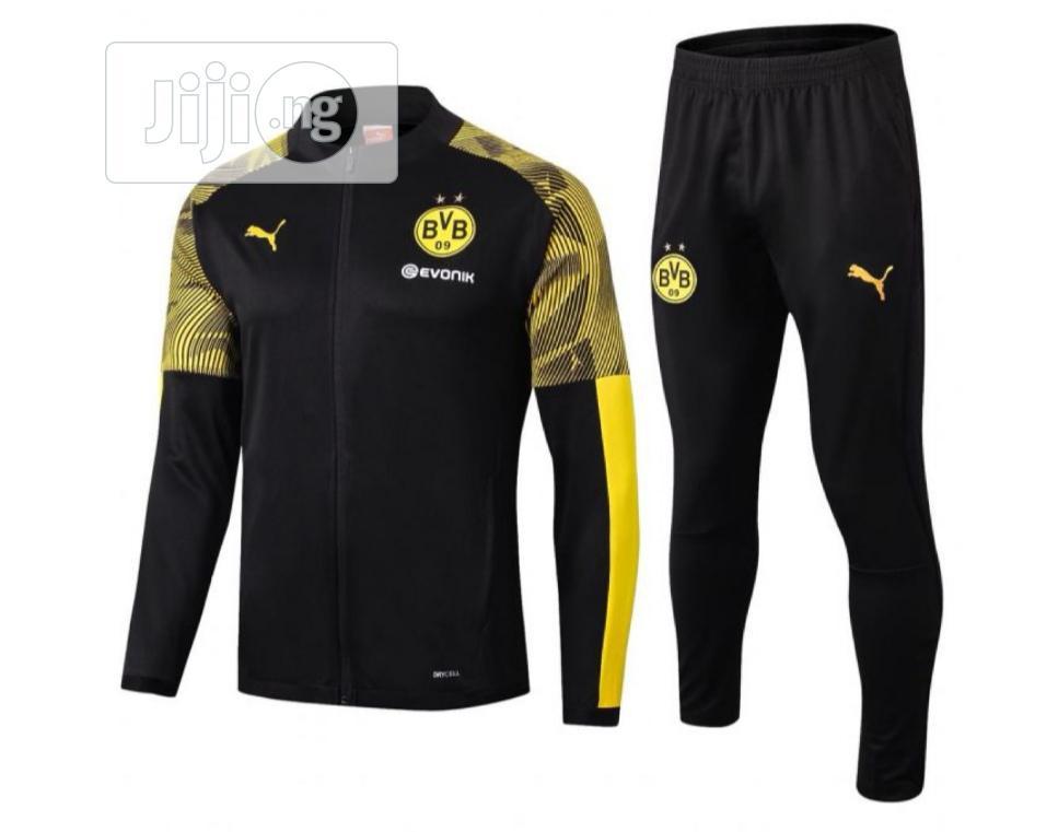 Brand New Dortmund Presentation Tracksuit Black /Yellow