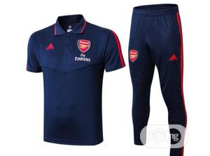 Brand New Arsenal Prematch Polo Tracksuit Navy /Blue   Sports Equipment for sale in Lagos State, Surulere