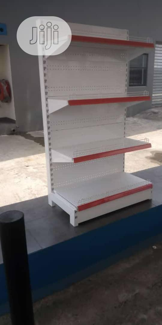 Single Sided Supermarket Gondola Shelving Shelves | Store Equipment for sale in Gwarinpa, Abuja (FCT) State, Nigeria