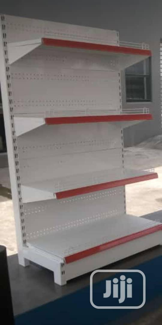 Single Sided Supermarket Gondola Shelving Shelves