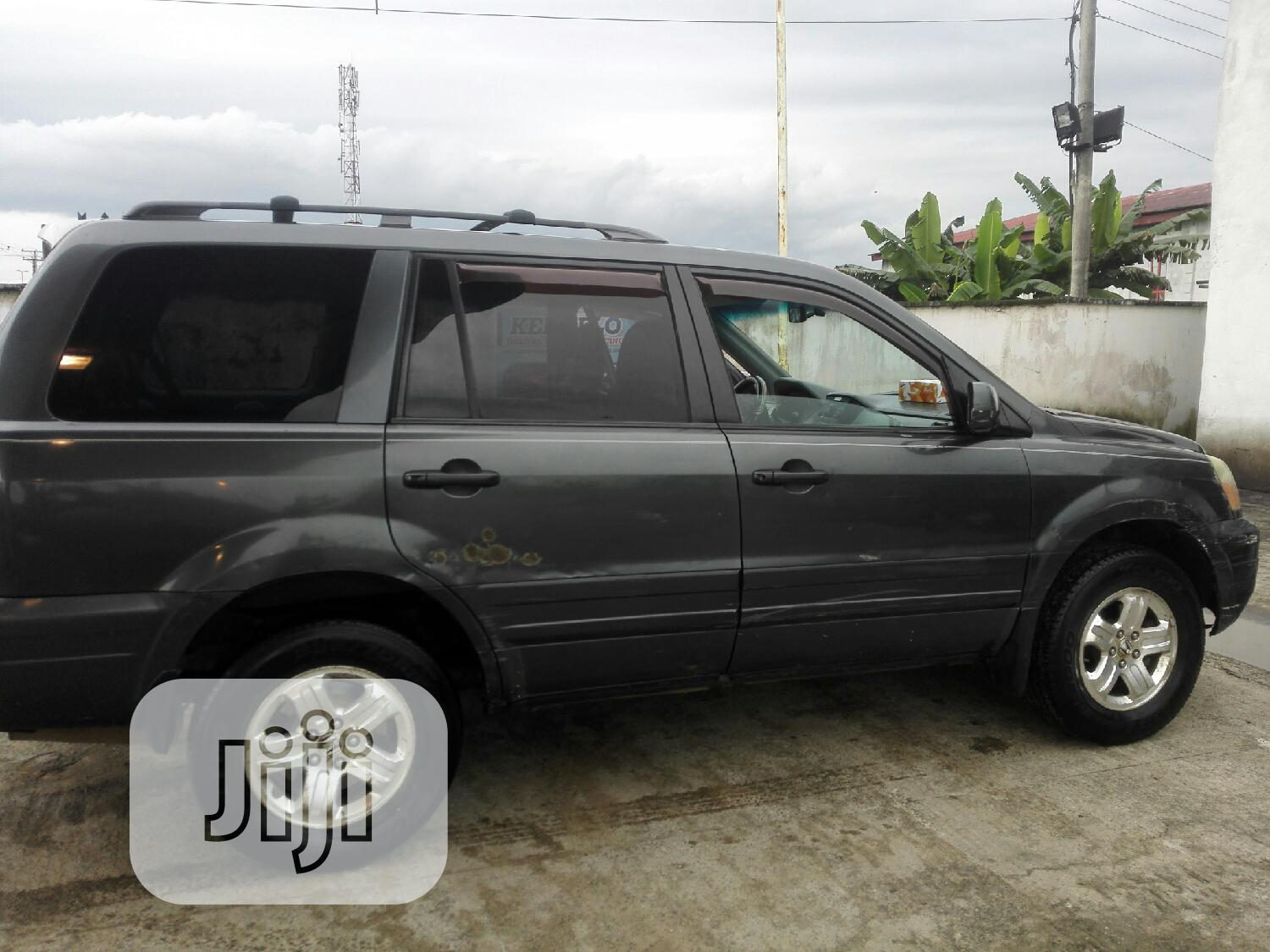 Honda Pilot 2003 EX 4x4 (3.5L 6cyl 5A) Gray   Cars for sale in Port-Harcourt, Rivers State, Nigeria