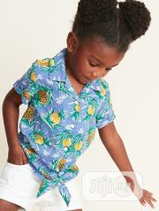 Old Navy Pineapple Print Tie Hem Shirt | Children's Clothing for sale in Lagos State, Ajah