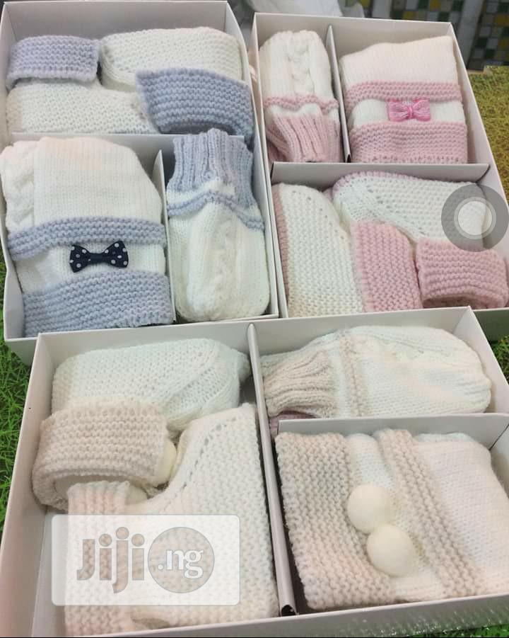 Set Of Knitted Cap, Baby Booties And Baby Mittens   Maternity & Pregnancy for sale in Ajah, Lagos State, Nigeria