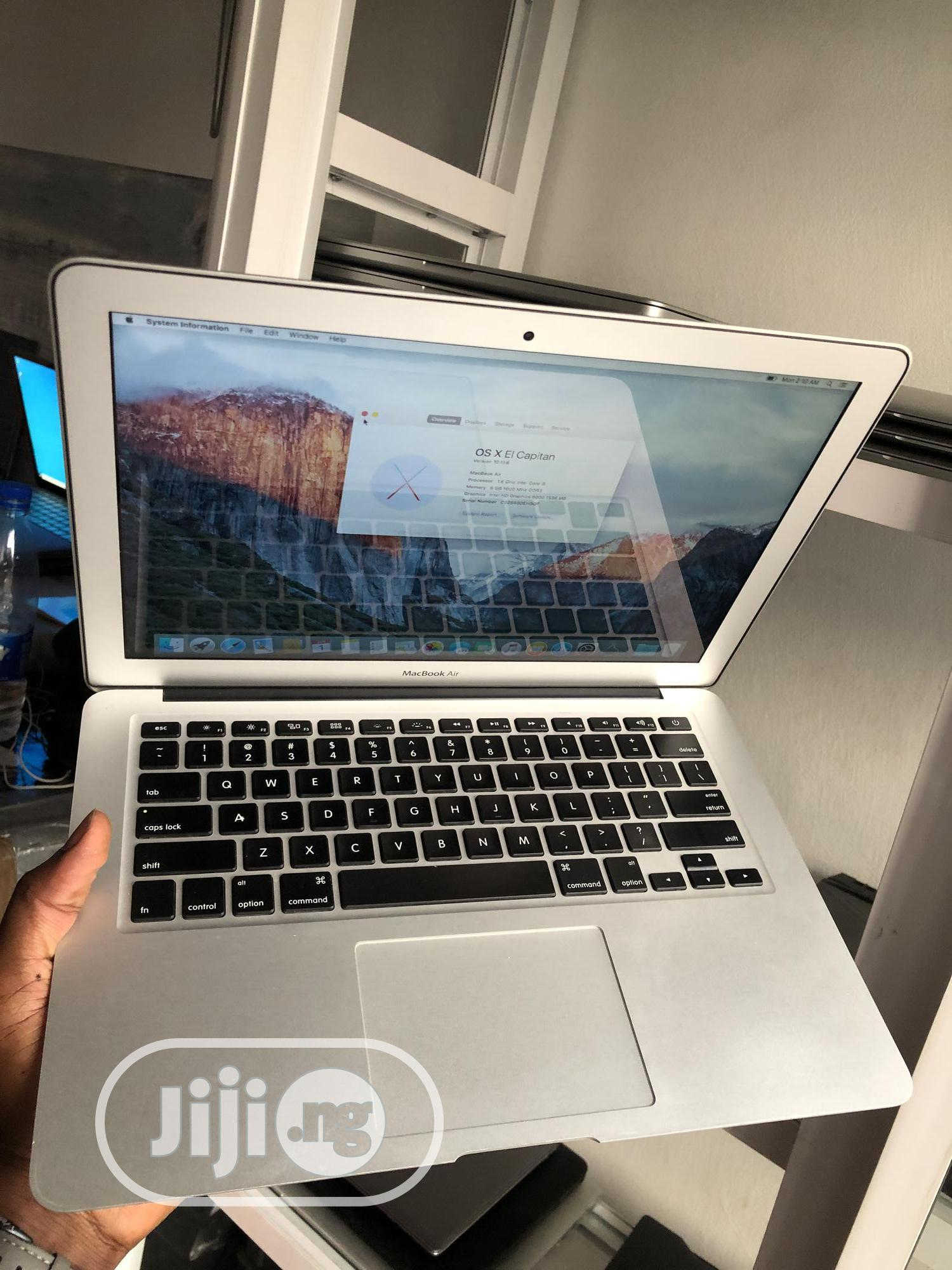 Laptop Apple MacBook Air 8GB Intel Core i5 SSD 256GB | Laptops & Computers for sale in Ikeja, Lagos State, Nigeria